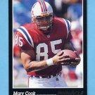 1993 Pinnacle Football #121 Marv Cook - New England Patriots