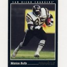 1993 Pinnacle Football #060 Marion Butts - San Diego Chargers Ex