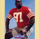1991 Pro Line Portraits Football #272 Ted Washington RC - San Francisco 49ers