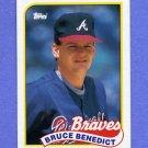 1989 Topps Baseball #778 Bruce Benedict - Atlanta Braves NM-M