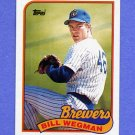 1989 Topps Baseball #768 Bill Wegman - Milwaukee Brewers NM-M