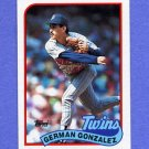 1989 Topps Baseball #746 German Gonzalez - Minnesota Twins