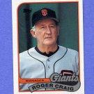 1989 Topps Baseball #744 Roger Craig MG / San Francisco Giants Team Checklist NM-M