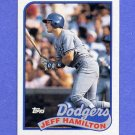1989 Topps Baseball #736 Jeff Hamilton - Los Angeles Dodgers NM-M