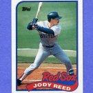1989 Topps Baseball #734 Jody Reed - Boston Red Sox