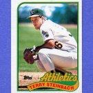 1989 Topps Baseball #725 Terry Steinbach - Oakland A's NM-M