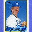 1989 Topps Baseball #724 Jerry Don Gleaton - Kansas City Royals