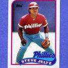 1989 Topps Baseball #707 Steve Jeltz - Philadelphia Phillies NM-M