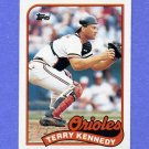 1989 Topps Baseball #705 Terry Kennedy - Baltimore Orioles
