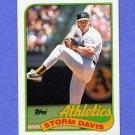 1989 Topps Baseball #701 Storm Davis - Oakland A's NM-M