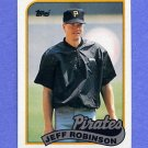 1989 Topps Baseball #681 Jeff D. Robinson - Pittsburgh Pirates
