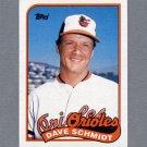 1989 Topps Baseball #677 Dave Schmidt - Baltimore Orioles Ex