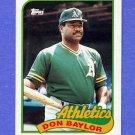 1989 Topps Baseball #673 Don Baylor - Oakland A's