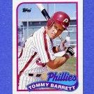1989 Topps Baseball #653 Tommy Barrett - Philadelphia Phillies