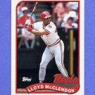 1989 Topps Baseball #644 Lloyd McClendon - Cincinnati Reds