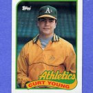 1989 Topps Baseball #641 Curt Young - Oakland A's