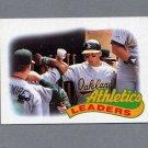 1989 Topps Baseball #639 Walt Weiss / Oakland A's TL Ex