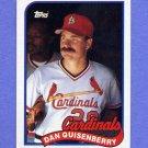 1989 Topps Baseball #612 Dan Quisenberry - St. Louis Cardinals