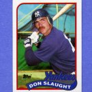 1989 Topps Baseball #611 Don Slaught - New York Yankees
