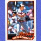 1989 Topps Baseball #598 Ken Gerhart - Baltimore Orioles NM-M