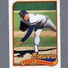 1989 Topps Baseball #595 Teddy Higuera - Milwaukee Brewers VgEx
