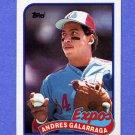1989 Topps Baseball #590 Andres Galarraga - Montreal Expos
