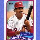 1989 Topps Baseball #575 Juan Samuel - Philadelphia Phillies