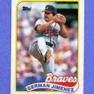 1989 Topps Baseball #569 German Jimenez - Atlanta Braves