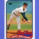 1989 Topps Baseball #544 Jeff Sellers - Boston Red Sox NM-M