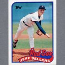1989 Topps Baseball #544 Jeff Sellers - Boston Red Sox ExMt