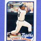 1989 Topps Baseball #514 Chet Lemon - Detroit Tigers