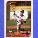 1989 Topps Baseball #491 Mike Birkbeck - Milwaukee Brewers