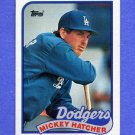 1989 Topps Baseball #483 Mickey Hatcher - Los Angeles Dodgers