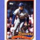 1989 Topps Baseball #466 Chuck Crim - Milwaukee Brewers