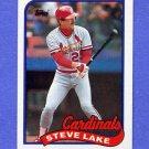 1989 Topps Baseball #463 Steve Lake - St. Louis Cardinals