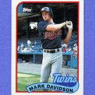 1989 Topps Baseball #451 Mark Davidson - Minnesota Twins