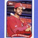 1989 Topps Baseball #442 Jose Oquendo - St. Louis Cardinals NM-M