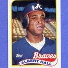 1989 Topps Baseball #433 Albert Hall - Atlanta Braves