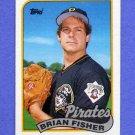 1989 Topps Baseball #423 Brian Fisher - Pittsburgh Pirates