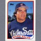 1989 Topps Baseball #384 Mark Salas - Chicago White Sox Ex