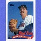 1989 Topps Baseball #377 Mike Smithson - Boston Red Sox