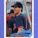 1989 Topps Baseball #376 Steve Lombardozzi - Minnesota Twins