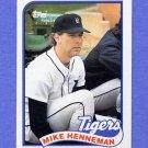 1989 Topps Baseball #365 Mike Henneman - Detroit Tigers