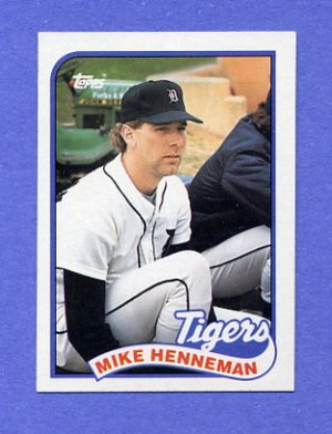 1989 Topps Baseball #365 Mike Henneman - Detroit Tigers