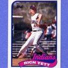 1989 Topps Baseball #363 Rich Yett - Cleveland Indians