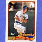 1989 Topps Baseball #338 Jim Adduci - Milwaukee Brewers