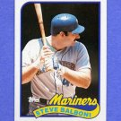 1989 Topps Baseball #336 Steve Balboni - Seattle Mariners