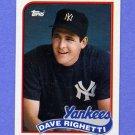 1989 Topps Baseball #335 Dave Righetti - New York Yankees