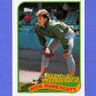 1989 Topps Baseball #328 Rick Honeycutt - Oakland A's NM-M