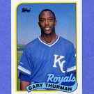1989 Topps Baseball #323 Gary Thurman - Kansas City Royals